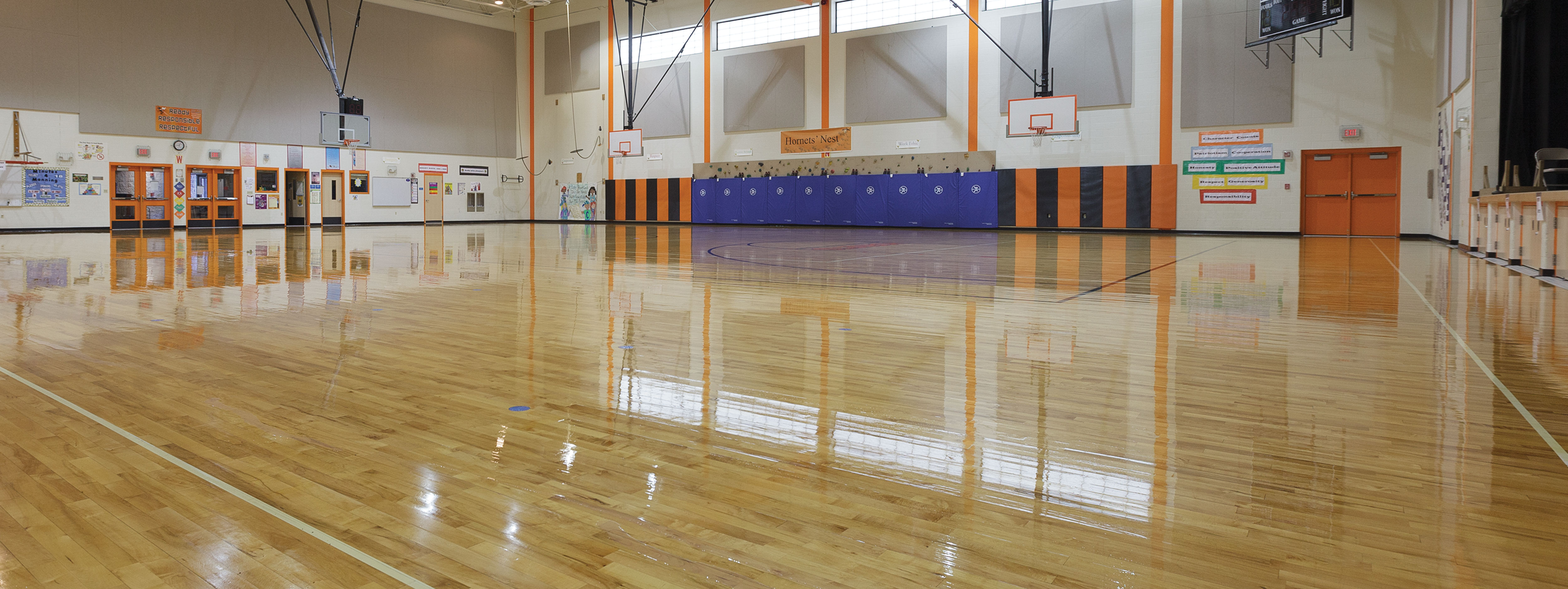 Buckeye Reflections Wood Floor Care Program in Schools